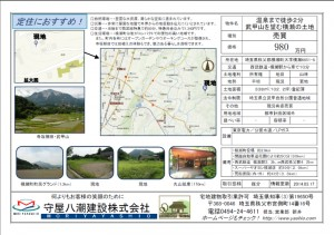 武甲山を望む横瀬の土地