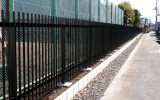 小鹿野高校(小鹿野町)道路後退部分門塀